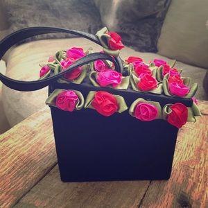 Handbags - Evening purse w roses